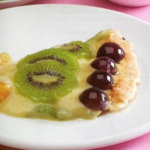 Tarta brillante de frutas frescas